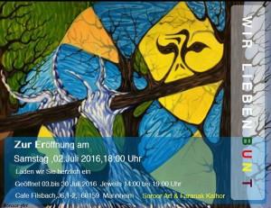 Ausstellung Cafe Filsbach 2. juli